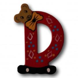 Houten letter D